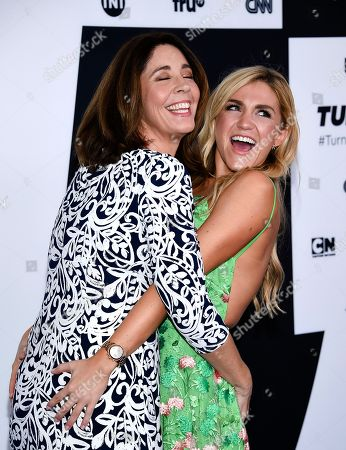 Stock Photo of Actors Brooke Dillman, left, and Jessica Lowe attend the Turner Network 2017 Upfront presentation at The Theater at Madison Square Garden, in New York