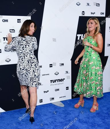 Actors Brooke Dillman, left, and Jessica Lowe attend the Turner Network 2017 Upfront presentation at The Theater at Madison Square Garden, in New York