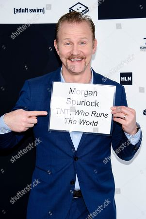 Filmmaker Morgan Spurlock attends the Turner Network 2017 Upfront presentation at The Theater at Madison Square Garden, in New York