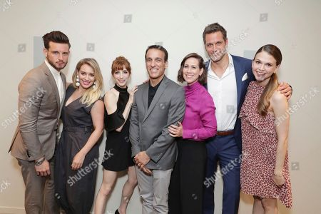 Stock Picture of Nico Tortorella, Hilary Duff, Molly Bernard, Exec. Producer Eric Zicklin, Miriam Shor, Peter Hermann and Sutton Foster seen at TV Land 'Younger' FYC Panel at the Wolf Theater at Saban Media Center, in Los Angeles, CA