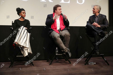 """Janelle Monae, Composer Ben Wallfisch and Scott Mantz seen at Twentieth Century Fox """"Hidden Figures"""" Special Screening at the London West Hollywood on January, 04, 2017, in Los Angeles, CA"""