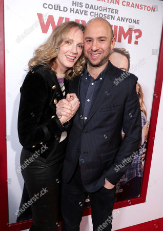 "Stock Photo of Christina Kirk, left, and John Hamburg attend Twentieth Century Fox's world premiere of ""Why Him?"" at Regency Bruin Theater, in Westwood, Calif"