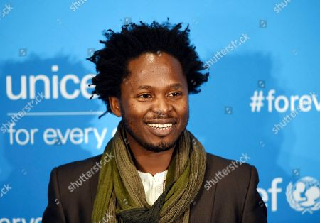 Ishmael Beah attends UNICEF's 70th anniversary gala, at United Nations headquarters
