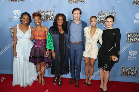 """Author Nicola Yoon, Anika Noni Rose, Director Stella Meghie, Nick Robinson, Amandla Stenberg and Ana de la Reguera seen at Warner Bros. Pictures and Metro-Goldwyn-Mayer Pictures """"Everything, Everything"""" Special VIP Screening, in Los Angeles"""