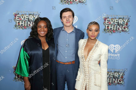 """Director Stella Meghie, Nick Robinson and Amandla Stenberg seen at Warner Bros. Pictures and Metro-Goldwyn-Mayer Pictures """"Everything, Everything"""" Special VIP Screening, in Los Angeles"""