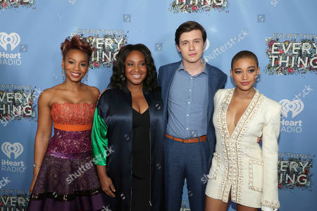 """Anika Noni Rose, Director Stella Meghie, Nick Robinson and Amandla Stenberg seen at Warner Bros. Pictures and Metro-Goldwyn-Mayer Pictures """"Everything, Everything"""" Special VIP Screening, in Los Angeles"""