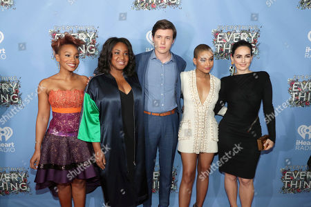 """Anika Noni Rose, Director Stella Meghie, Nick Robinson, Amandla Stenberg and Ana de la Reguera seen at Warner Bros. Pictures and Metro-Goldwyn-Mayer Pictures """"Everything, Everything"""" Special VIP Screening, in Los Angeles"""
