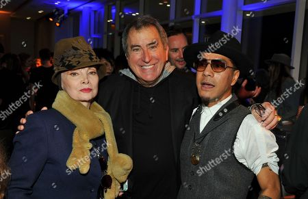 """Toni Basil, from left, Kenny Ortega and Tone Talauega are seen at the reception following the Television Academy's """"Whose Dance Is It Anyway?"""" event celebrating the art of choreography with an evening of dance created by renowned choreographers at the Saban Media Center on in the NoHo Arts District in Los Angeles"""