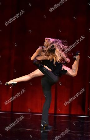 "Stock Image of Ekaterina Fedosova, left, and Derek Hough perform at the Television Academy's ""Whose Dance Is It Anyway?"" event celebrating the art of choreography with an evening of dance created by renowned choreographers at the Saban Media Center on in the NoHo Arts District in Los Angeles"