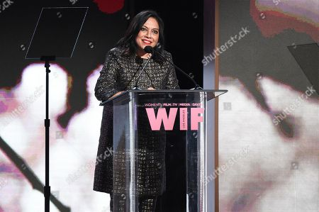 Mira Nair attends the Women In Film 2017 Crystal and Lucy Awards at the Beverly Hilton Hotel, in Beverly Hills, Calif