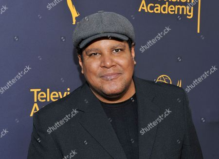 Chris Pierce arrives to take part in WORDS + MUSIC, presented at the Television Academy's Wolf Theatre at the Saban Media Center in North Hollywood, Calif