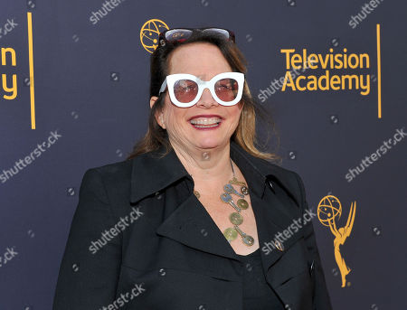 Stock Image of Laura Karpman arrives to take part in WORDS + MUSIC, presented at the Television Academy's Wolf Theatre at the Saban Media Center in North Hollywood, Calif