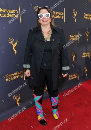 Laura Karpman arrives to take part in WORDS + MUSIC, presented at the Television Academy's Wolf Theatre at the Saban Media Center in North Hollywood, Calif