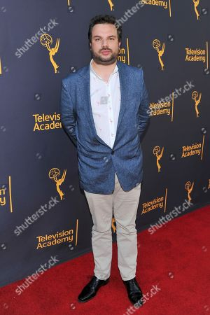 David Buckley arrives to take part in WORDS + MUSIC, presented at the Television Academy's Wolf Theatre at the Saban Media Center in North Hollywood, Calif