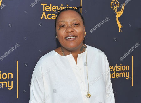 Meshell Ndegeocello arrives to take part in WORDS + MUSIC, presented at the Television Academy's Wolf Theatre at the Saban Media Center in North Hollywood, Calif