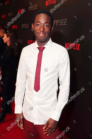 Jeremy Tardy seen at 'Dear White People' Netflix FYSee exhibit space with a Q&A, in Los Angeles