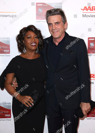 Alfre Woodard and Roderick Spencer attend AARP's 16th Annual Movies for Grownups Awards at the Beverly Wilshire Hotel, in Beverly Hills, Calif