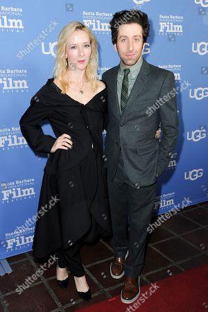 Simon Helberg, right, and Jocelyn Towne attend the Virtuosos Award ceremony at the 32nd Santa Barbara International Film Festival, in Santa Barbara, Calif