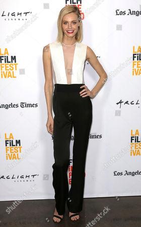 "Stock Photo of Christine Marzano arrives at the Los Angeles Film Festival world premiere of ""A Midsummer Night's Dream"", in Santa Monica, Calif"