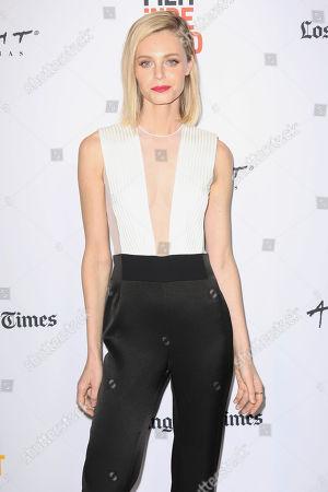 "Christine Marzano arrives at the 2017 Los Angeles Film Festival world premiere of ""A Midsummer Night's Dream"", in Santa Monica, Calif"