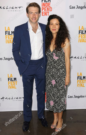 "Fran Kranz, left, and Mia Doi Todd arrive at the Los Angeles Film Festival world premiere of ""A Midsummer Night's Dream"", in Santa Monica, Calif"