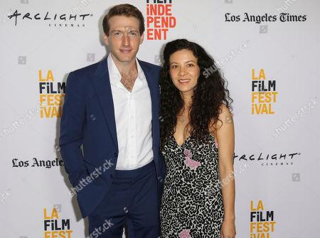 "Fran Kranz, left, and Mia Doi Todd arrive at the 2017 Los Angeles Film Festival world premiere of ""A Midsummer Night's Dream"", in Santa Monica, Calif"