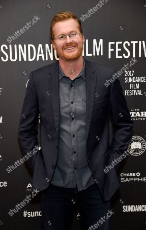 """Kurt Braunohler, a cast member in """"The Big Sick,"""" poses at the premiere of the film at Eccles Theatre during the 2017 Sundance Film Festival, in Park City, Utah"""