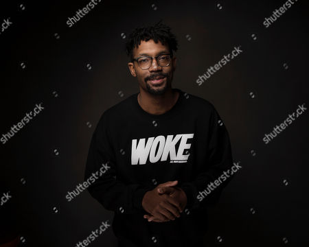 """Director Damon Davis poses for a portrait to promote the film, """"Whose Streets?,"""" at the Music Lodge during the Sundance Film Festival, in Park City, Utah"""