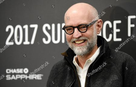 """Cartoonist Daniel Clowes, the screenwriter of """"Wilson,"""" poses at the premiere of the film at the Eccles Theatre during the 2017 Sundance Film Festival, in Park City, Utah"""