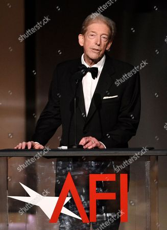 Stock Image of Cinematographer Frederick Elmes accepts the Franklin J. Schaffner Award during the 45th AFI Life Achievement Award Tribute to Diane Keaton at the Dolby Theatre, in Los Angeles