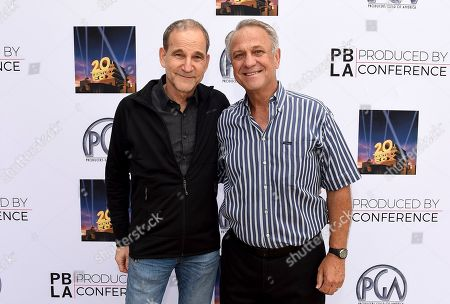 Marshall Herskovitz and PGA National Executive Director Vance Van Petten attend the 9th annual Produced By Conference at Twentieth Century Fox on in Los Angeles