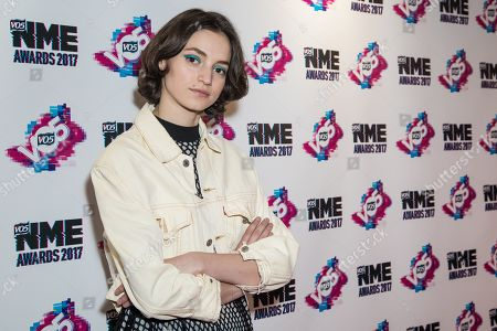 Stock Picture of Rebeca Marcos poses for photographers upon arrival at the NME 2017 music awards in London