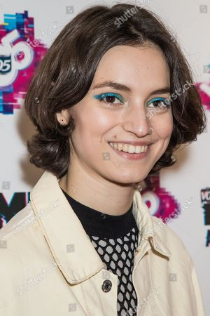 Stock Photo of Rebeca Marcos poses for photographers upon arrival at the NME 2017 music awards in London