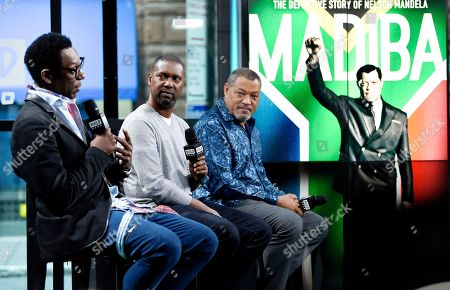 "Actor Orlando Jones, left, director Kevin Hooks and actor Laurence Fishburne participate in the BUILD Speaker Series to discuss the television miniseries, ""Madiba"", at AOL Studios, in New York"