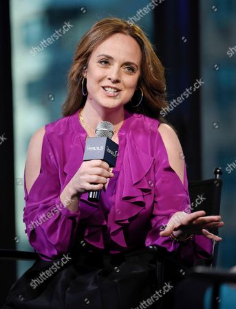 """Stock Photo of Actress Melissa Errico participates in BUILD Speaker Series to discuss """"Finian's Rainbow"""" at AOL Studios, in New York"""