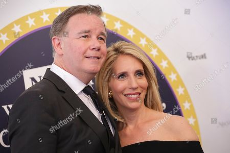 """Dana Bash, right, and guest arrive for """"Full Frontal with Samantha Bee's Not the White House Correspondents' Dinner"""" held at DAR Constitution Hall on Saturday, April, 29, 2017, in Washington"""