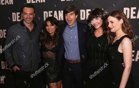 """Reid Scott, from left, Ginger Gonzaga, Demetri Martin, Mary Steenburgen and Gillian Jacobs arrive at the LA Special Screening of """"Dean"""" at the ArcLight Hollywood, in Los Angeles"""