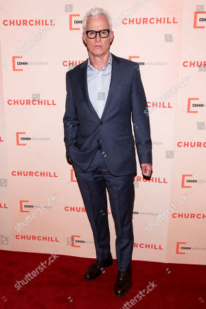"John Slattery attends the premiere of ""Churchill"" at The Whitby Hotel, in New York"
