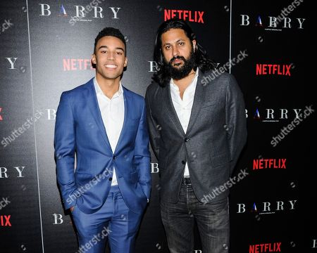 """Devon Terrell, left, and Vikram Gandhi attend special screening of the Netflix Original Film """"Barry"""", hosted by The Cinema Society,, in New York"""