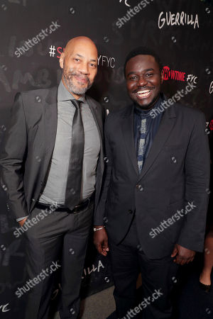 "Executive Producer John Ridley and Babou Ceesay seen at Showtime's ""Guerilla"" ATAS FYC Event at WGA, in Los Angeles"