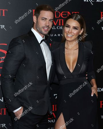 "William Levy, left, and Elizabeth Gutierrez arrive at the world premiere of ""Resident Evil: The Final Chapter"" at Regal L.A. Live, in Los Angeles"