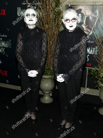 """Jackie Robbins and Joyce Robbins attend the world premiere of Netflix's """"Lemony Snicket's A Series of Unfortunate Events"""" at AMC Loews Lincoln Square, in New York"""