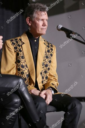 """Artist Randy Travis speaks at a press conference before his """"1 Night. 1 Place. 1 Time.: A Heroes and Friends Tribute to Randy Travis"""" at Bridgestone Arena on in Nashville, Tenn"""