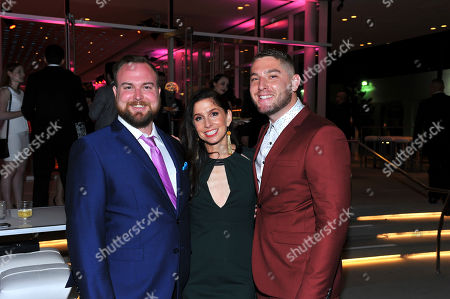 Chase Chambers, from left, Shoshannah Stern and Josh Feldman are seen at 38th College Television Awards presented by the Television Academy Foundation at the Saban Media Center, in the NoHo Arts District in Los Angeles