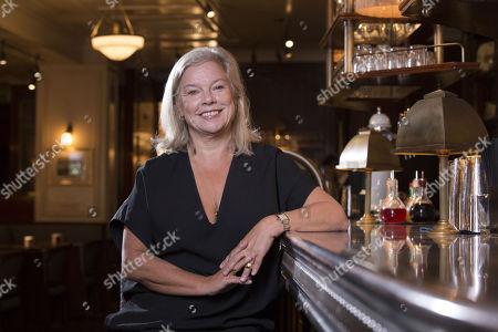 Stock Image of Alison Owen, Bellanger restaurant