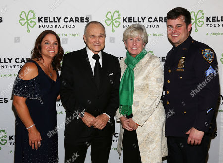 Pictured from left to right, Paqui Kelly, former NYC Police Commissioner Raymond Kelly, Patricia McDonald and her son Sgt. Conor McDonald attend the Kelly Cares Foundation's 7th Annual Irish Eyes Gala at the Pierre, A Taj Hotel in New York, . The Kelly Cares Foundation paid special tribute to Det. Steven McDonald who passed away this year. Brian and Paqui Kelly co-founded the Foundation whose mission is to strengthen communities and inspire hope by investing resources to improve health and education