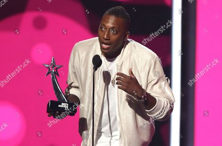 Lecrae accepts the Dr. Bobby Jones best gospel/inspirational award at the BET Awards at the Microsoft Theater, in Los Angeles