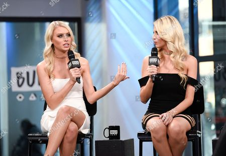 "Stock Photo of Television personalities Emily Ferguson, left, and Haley Ferguson participate in the BUILD Speaker Series to discuss the television series ""The Twins: Happily Ever After?"" at AOL Studios, in New York"