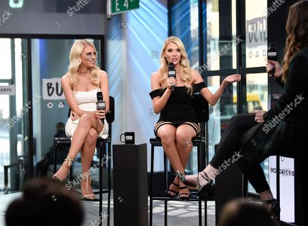 "Stock Image of Television personalities Emily Ferguson, left, and Haley Ferguson participate in the BUILD Speaker Series to discuss the television series ""The Twins: Happily Ever After?"" at AOL Studios, in New York"