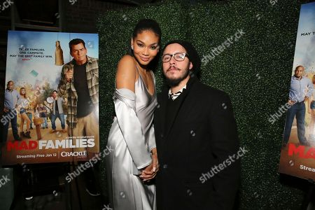 """Chanel Iman and Efren Ramirez seen at the Crackle Original Movie """"Mad Families"""" Premiere Party at Catch LA, in West Hollywood, Calif"""